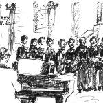 Pianist und Männerchor