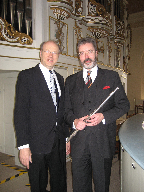 Flöte: Eberhard Enß und Orgel: Rainer W. Böttcher